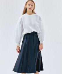LANVIN en Bleu/【セットアップ対応】サイドボタンフェイクレザースカート/502827317