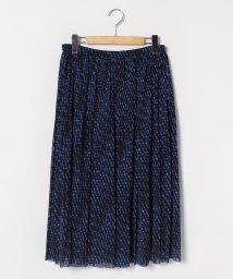 LAPINE ROUGE/【大きいサイズ】ドットチュール プリーツスカート/502907528