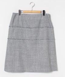LAPINE ROUGE/【大きいサイズ】【セットアップ対応】ラメ混ミックスツィード スカート/502907542