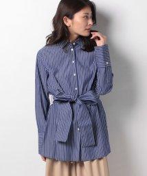 LAPINE BLEUE/【洗える】ストライプ ロングシャツ/502909268