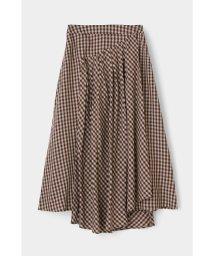 moussy/GINGHAM FLARE スカート/502915774