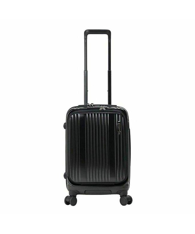 カバンのセレクション バーマス インターシティ スーツケース 機内持ち込み Sサイズ/35L フロントオープン ストッパー USBポート BERMAS 60500 ユニセックス ブラック系1 フリー 【Bag & Luggage SELECTION】