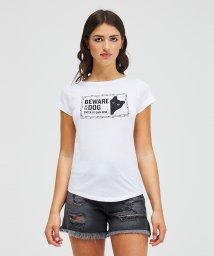 SISLEY/コットンプリント半袖Tシャツ・カットソー/502892059