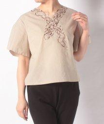 CECI OU CELA/【セットアップ対応商品】タイプライター刺繍 シャツ/502904319