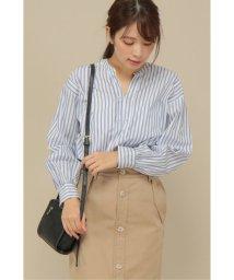 ikka/ストライプバンドカラーシャツ/502916077