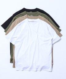 coen/USAコットンヘビーウェイトクルーネックポケットTシャツ#/502919789