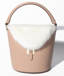 actuelselect/【tov】FUR FLAP BUCKET BAG/502515842