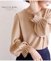 Sawa a la mode/ふんわりギャザー袖のとろみブラウス/502922902