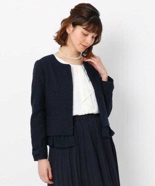 Couture Brooch(クチュールブローチ)/フリル付きノーカラージャケット/20200150848011