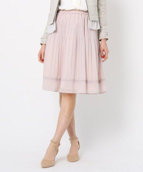 Couture Brooch(クチュールブローチ)/【WEB限定サイズ(LL)あり】プリーツジョーゼットスカート/20200150878021