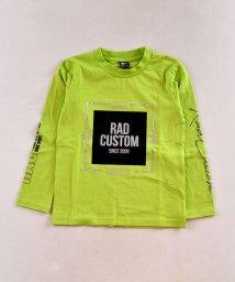 RAD CUSTOM/天竺スクエアプリント長袖Tシャツ/502816209