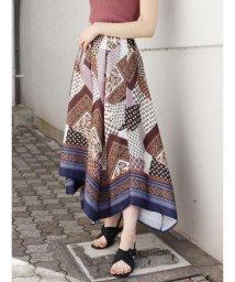 MURUA/スカーフフラワースカート/502886525
