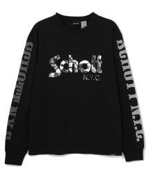 Schott/CAMO LOGO T-SHIRT/カモフラージュロゴ Tシャツ/502925240