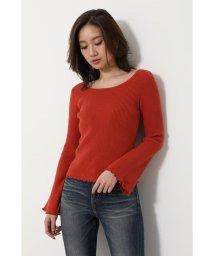 rienda/Bell sleeve RIB Knit TOP/502925463