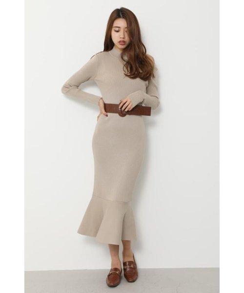 rienda(リエンダ)/Shoulder SLIT Mermaid Knit OP/110DS673-0130
