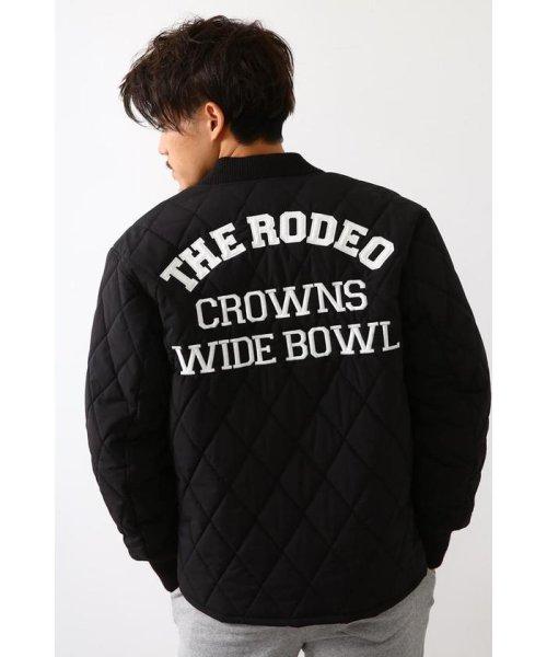 RODEO CROWNS WIDE BOWL(ロデオクラウンズワイドボウル)/キルティングロゴブルゾン/421DSW30-0670