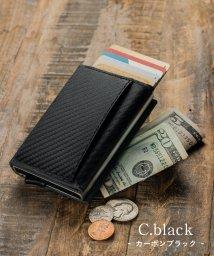 MURA/RFIDスキミング防止機能付 レザー カーボン 三つ折り ミニ財布/502927212