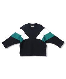 branshes/モックネック配色長袖Tシャツ(90~150cm)/502927282