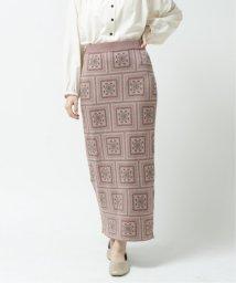 Ray Cassin /スカーフ柄ジャガードニットスカート/502927457