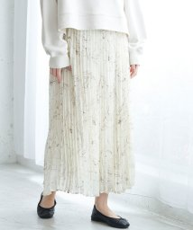 ROPE' PICNIC/【WEB限定】線描きフラワープリーツスカート/502927755