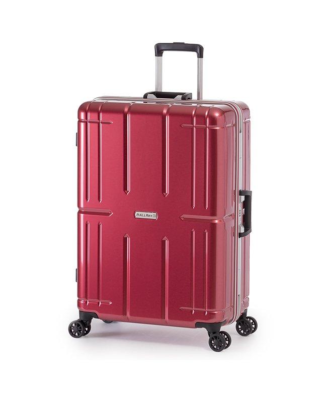 カバンのセレクション アジアラゲージ アリマックス2 スーツケース Lサイズ 80L フレーム 大容量 011r−26 ユニセックス レッド フリー 【Bag & Luggage SELECTION】