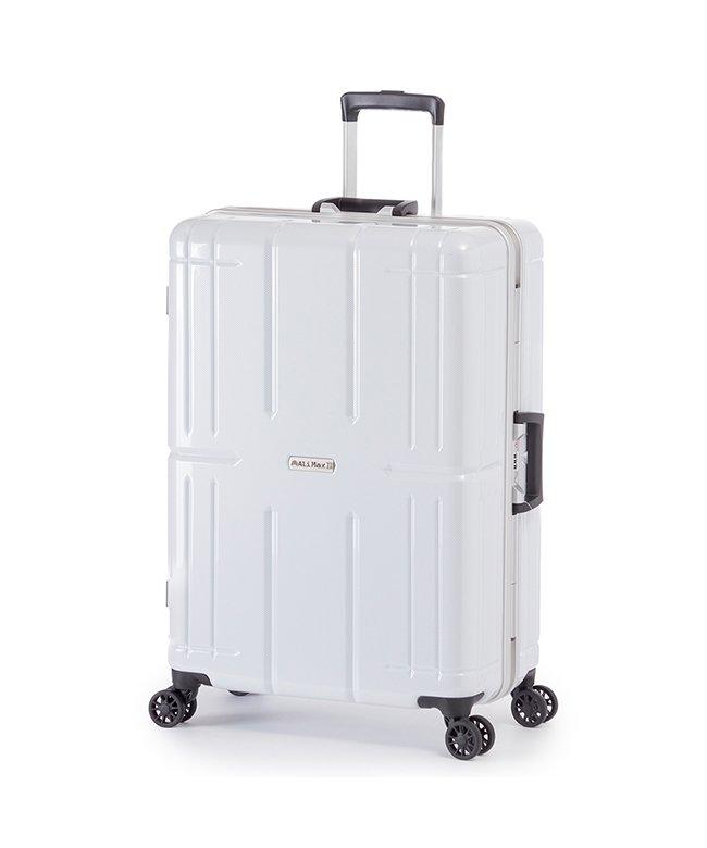 カバンのセレクション アジアラゲージ アリマックス2 スーツケース Lサイズ 80L フレーム 大容量 011r−26 ユニセックス ホワイト フリー 【Bag & Luggage SELECTION】