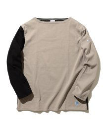BEAMS MEN/ORCIVAL × BEAMS / 別注 クレイジー ボートネック カットソー/502929036
