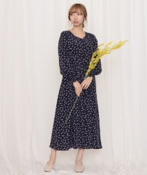 Cheek/花柄シフォン前開きドレス/502856134