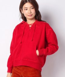 LEVI'S LADY/LMC LACE UP HOODIE AURORA RED/502913407