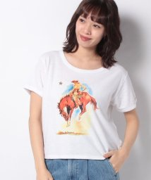 LEVI'S LADY/GRAPHIC RINGER SURF TEE HORSE WHITE GRAP/502913426