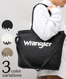 AMS SELECT/【Wrangler/ラングラー】2WAYキャンバスショルダートートバッグ/502931368