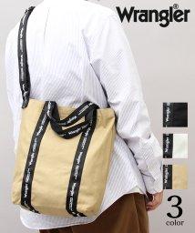 AMS SELECT/【Wrangler/ラングラー】2WAY縦型キャンバスショルダートートバッグ/ロゴテープ/502931369