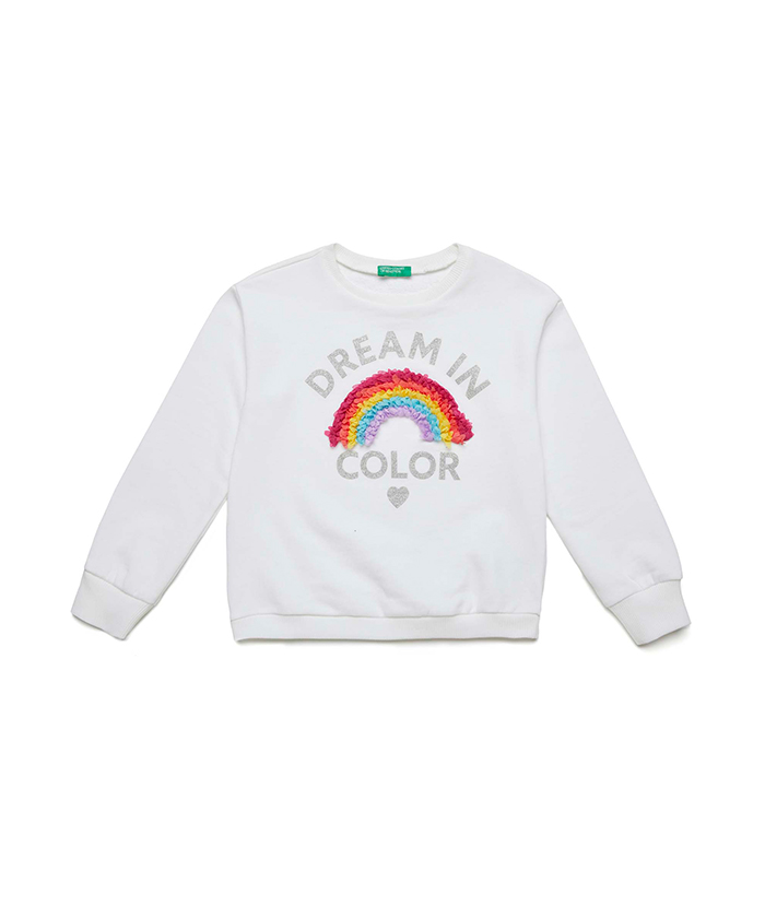 United Colors of Benetton Girls T-Shirt M//L Long Sleeve Top