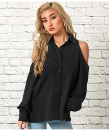 LATINA/ショルダーオープンシャツ/502932353
