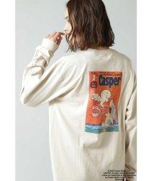 ROSE BUD/キャスパープリントロングTシャツ/502932620