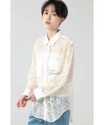 ROSE BUD/レースロゴシャツ/502932632