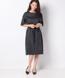 CECI OU CELA/麻レーヨンストライプ ドレス/502904302