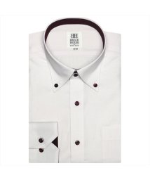 BRICKHOUSE/ワイシャツ 長袖 形態安定 ボタンダウン ピンク刺子調柄 スリム/502933862