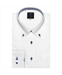 BRICKHOUSE/ワイシャツ 長袖 形態安定 ボタンダウン ストライプ織柄(透け防止) 標準体/502933866
