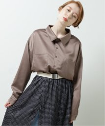 DOUBLE NAME/サテンとろみシャツ/502933872
