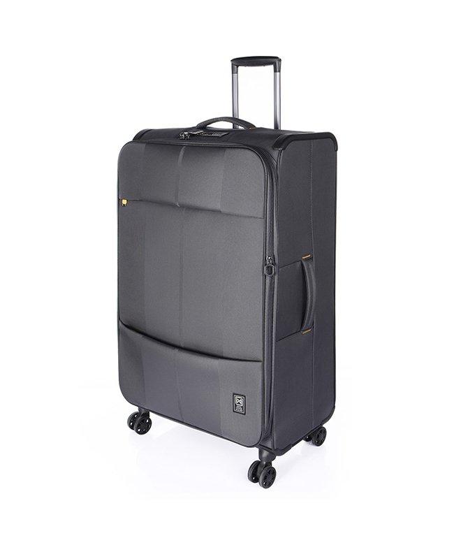 カバンのセレクション フィノキシーゼロ スーツケース ソフト 超軽量 大容量 拡張 80L〜88L Finoxy ZERO fnzr−72 ユニセックス チャコールグレー フリー 【Bag & Luggage SELECTION】