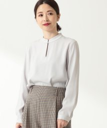 Demi-Luxe BEAMS/Demi-Luxe BEAMS / ステッチネック スキッパーブラウス/502872588