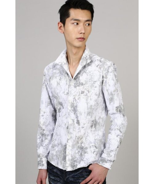 TORNADO MART(トルネードマート)/TORNADO MART∴朧クロコダイルフロッキープリントシャツ/6310173003