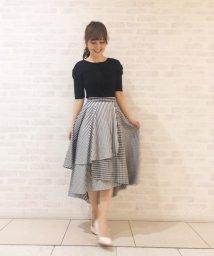 31 Sons de mode/【美人百花3月号掲載】ギンガム×ストライプシャツ地スカート/502933163