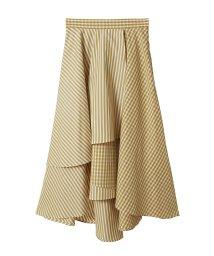 31 Sons de mode/ギンガム×ストライプシャツ地スカート/502933163