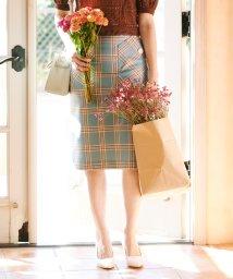 31 Sons de mode/【美人百花4月号掲載】ビックポケットチェックタイトスカート/502933166
