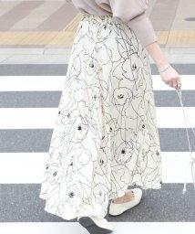 coca/グラフィック花柄ロングスカート/502934523