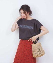 Rouge vif la cle/ダブルタックプリントTシャツ/502935315