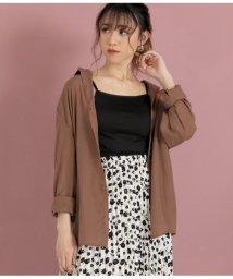 CHILLE/とろみ素材テールカットシャツ/502935372