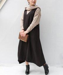 REAL CUBE/Vネックコクーンジャンパースカート/502936278